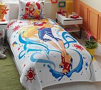 Подростковое постельное белье с покрывалом пике 160х230 TAC  WINX STELLA OCEAN