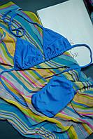 Голубой удобный купальник