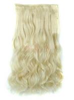 Трессы волнистые блонд волосы на клипсах