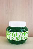 Гель для волос ультрасильной фиксации Kallos Styling Gel Ultra Strong 275 мл.