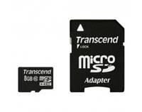 Карта памяти Transcend MicroSDHC 8GB Class 10 + adapter