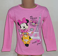 """Детские батники для девочек """"ПАРИЖ"""" 4,5,6 лет, 100% хлопок.Детская одежда оптом"""