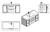 Комплект мебели для ванной Barbados 120-2 Буль-буль белый, фото 5