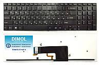 Оригинальная клавиатура для Sony Vaio Fit 15, FIT15, SVF15 series, black, no frame, подсветка