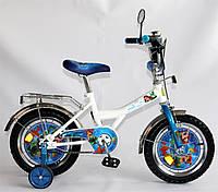 """Велосипед Русалочка 14 BT-CB-0020 белый с голубым, система: """"One piece crank""""***"""