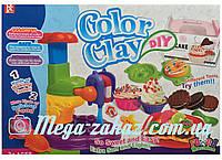 """Игровой набор для лепки """"Фабрика мороженного"""" (пластилин для лепки): пресс, 6 цветов, 22 аксессуара"""