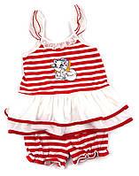 Летний трикотажный костюм для девочки