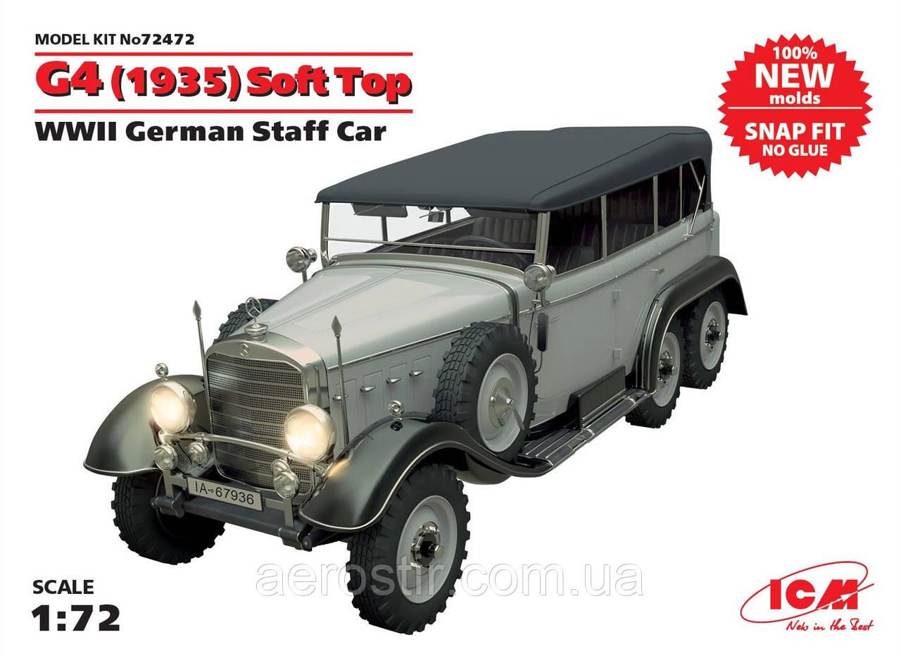 Германский автомобиль ' Mercedes-Benz G-4' с тентом [ производства 1935г.]    1\72      ICM 72472