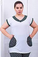 Майка черно-белая из масла с карманами 52-54 размера