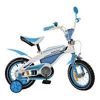 Детский велосипед PROFI 12д 12BX405-1 kross, бело-голубой ***