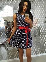 Короткое платье-сарафан горох