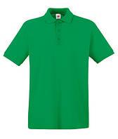 Футболка мужская Поло -  63-218-47 ярко-зеленая