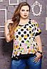 Очень красивая женская футболка с круглой горловиной большого размера 52-62