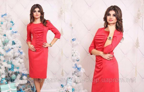 Женское платье сборка