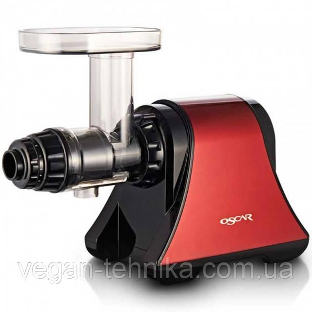 Горизонтальная шнековая соковыжималка Oscar DA-1200 Red