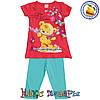 Детский летний костюм кораллового цвета для девочки от 2 до 5 лет (4357-1)