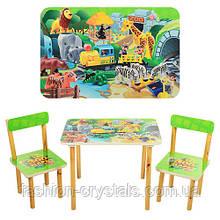 Детский комплект стол и 2 стула 501-19
