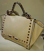 Бежевая сумка, ремешок - съемный, фото 1