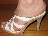 Сабо женские открытые на удобном каблуке