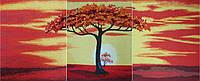"""Картина вышитая шелком """"Дерево"""""""