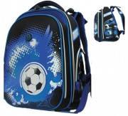 Ранец CLASS Football, 2 отделения, 39*28*21см, сине-черный, 9630