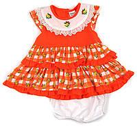 Летнее платье с отделкой прошва для девочки 80р.