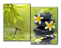 """Настенные модульные картина-часы """"Цветение бамбука"""""""