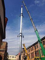 Изготовление, монтаж, демонтаж промышленных дымовых и вентиляционных труб с вертикальными растяжками и с гаран