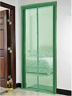 Антимоскитная шторка на магнитах  210х90см зеленая