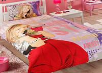 Подростковое постельное белье TAC  DISNEY простынь на резинке  HANNAH MONTANA STAR