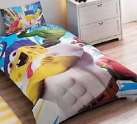 Подростковое постельное белье TAC  DISNEY простынь на резинке   SPONGE BOB MOVIE
