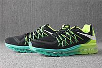 Кроссовки Nike Air Max черно-салатовые