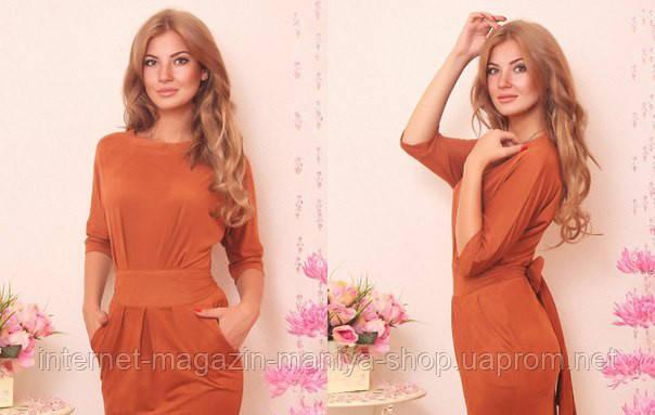 Женское платье цвета