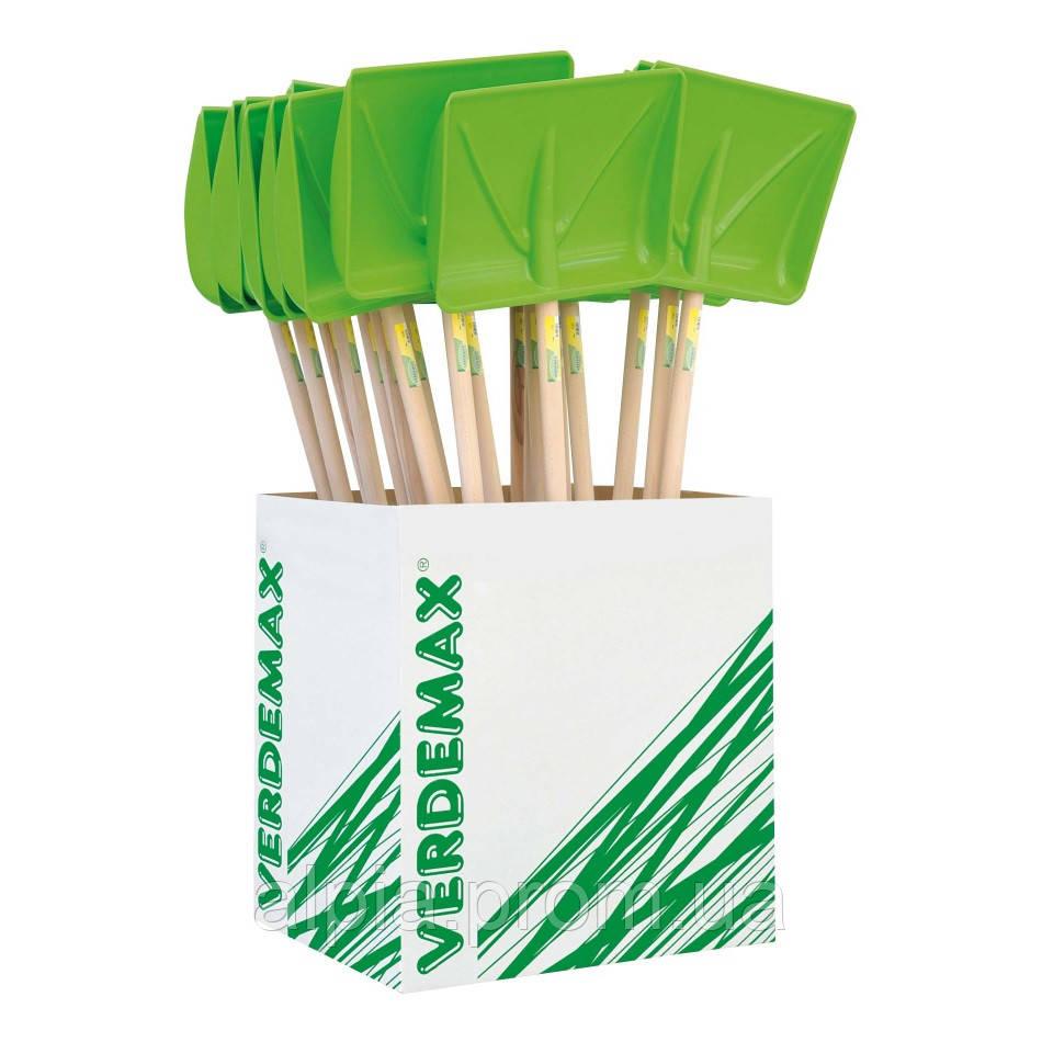 Лопата для уборки снега с ручкой Verdemax