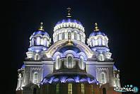 Архитектурная подсветка церквей и храмов. LED освещение. Светодиодное освещение зданий., фото 1