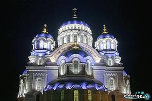 Архитектурная подсветка церквей и храмов. LED освещение. Светодиодное освещение зданий.