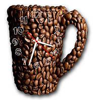 """Фигурные настенные часы """"Кофе - зёрна"""""""