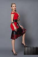 Платье  мод 247-1 размер 40 красное, фото 1