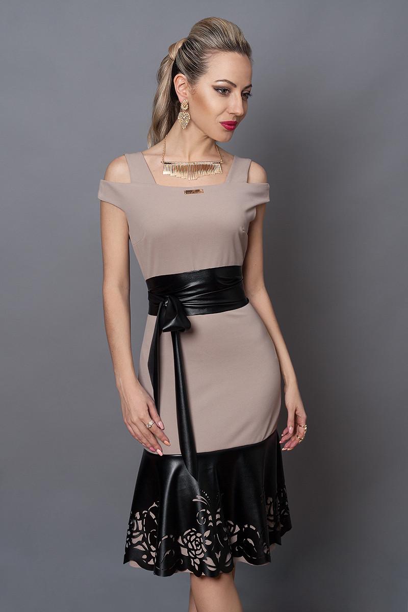 Платье  мод 247-2 размер 40,44,46, каппучино