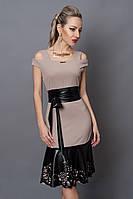 Платье  мод 247-2 размер 40,44,46, каппучино, фото 1