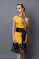 Платье  мод 247-5 размер 40,44 желтое, фото 1