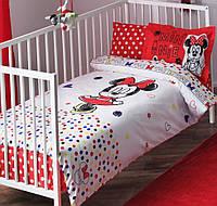 Детское постельное белье в кроватку TAC BEBEK DISNEY MINNIE SKETCH BABY
