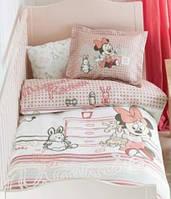 Детское постельное белье в кроватку TAC BEBEK DISNEY MINNIE SCRIBBLE PLAY BABY