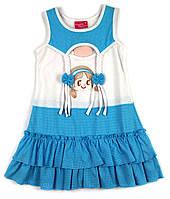 Летнее трикотажное платье для девочки 116р.