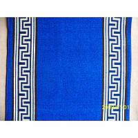Дорожка на резиновой основе - Версаче blue - 100 см