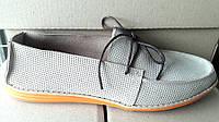 Мокасины летние мужские кожаные белые Uk0279