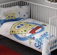Детское постельное белье в кроватку TAC BEBEK DISNEY  SPONGE BOB BABY