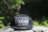 Прямая кепка реперка Rock Smith black
