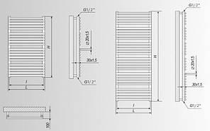 Электрический полотенцесушитель MARIO Феникс - I  800 x 500  (Mario Украина), фото 3