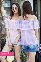 "Женская летняя лёгкая блуза в разных цветах "" Шарм"""